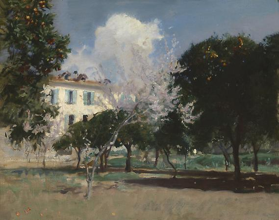 John Singer Sargent (1856-1925) House and Garden, Nice, c. 1883 Oil on canvas 23 x 29 inches Private collection Image