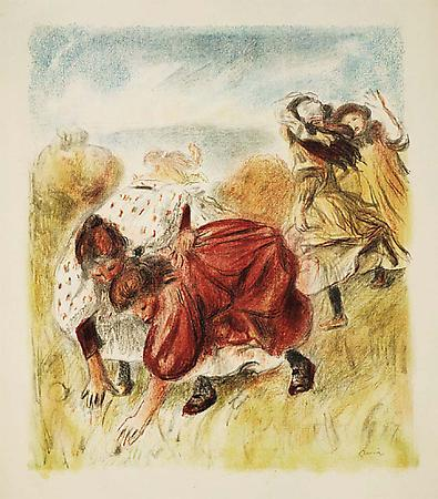 Pierre-Auguste Renoir Enfants jouant à la balle, c. 1900 Lithograph printed in colors Image: 23 5/8 x 20 1/8 inches, (60 x 51 cm) Sheet: 35 1/2 x 24 3/8 inches, (90 x 62 cm) From the edition of about 200 Delteil, Stella 32 Image