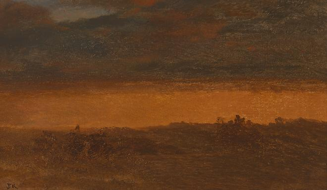 Red Landscape, c. 1870-71 Oil on canvas 10 1/4 x 17 inches Image