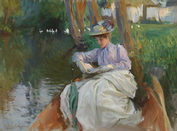 John Singer Sargent (1856-1925) Femme en barque, c. 1885-88 (?) Oil on canvas 20 x 27 inches Private collection Image
