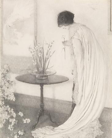 Lilian Westcott Hale (1881-1963) Apple Blossoms and Narcissus, 1912 Graphite on paper 28 3/4 x 22 5/8 inches SOLD Image