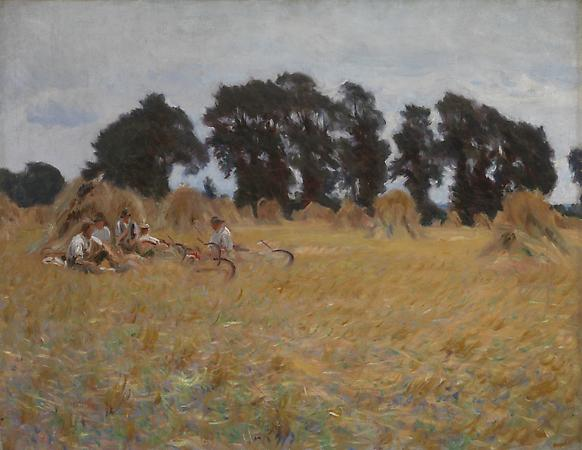 John Singer Sargent (1856-1925) Reapers Resting in a Wheat Field, c. 1885 Oil on canvas 28 x 36 inches Lent by The Metropolitan Museum of Art, Gift of Mrs. Francis Ormond, 1950 (50.130.14) Image