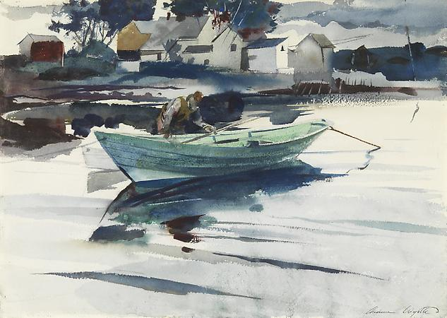 Andrew Wyeth (1917-2009) The Green Dory, 1940 Watercolor on paper 14 5/8 x 20 3/4 inches Image
