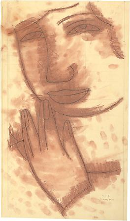 Study for On the Stairs, 2010 Pencil on paper with pastel tone on reverse 22 3/4 x 13 inches Signed and dated at lower right: AVS / 3 May 2010 $3,500 Image