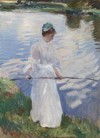 John Singer Sargent (1856-1925) Violet Fishing, 1889 Oil on canvas 28 1/2 x 21 inches Anonymous Image