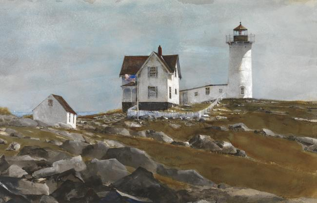 Dawn's Light, Coast of New England, 2008 Watercolor on Twinrocker handmade paper 13 1/2 x 21 inches Image