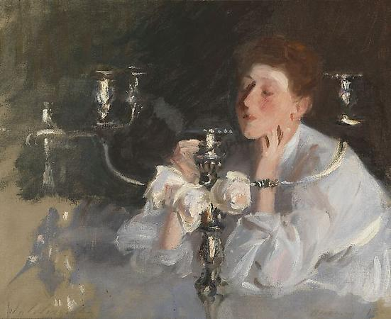 John Singer Sargent (1856-1925) The Candelabrum, 1885 Oil on canvas 20 3/4 x 26 1/4 inches Private collection Image