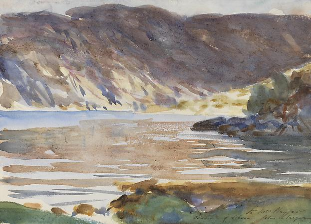 John Singer Sargent (1856-1925) Loch Moidart: Invernesshire II, 1896 Watercolor and pencil on paper 9 3/4 x 13 1/2 inches Image