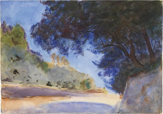 John Singer Sargent (1856-1925) Olive Tree, Corfu, Greece, 1909 Watercolor on paper 14 x 20 inches Image