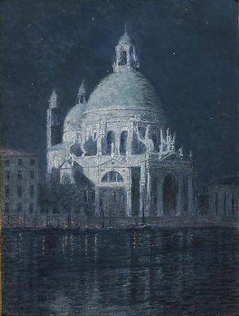 Santa Maria della Salute by Moonlight, 1897 Oil on canvas 32 1/8 x 24 inches Image