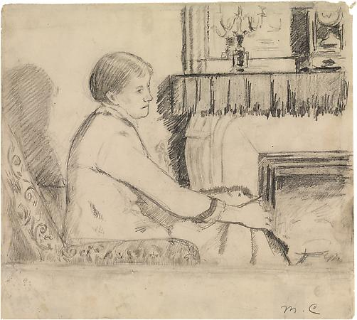 Drawing for &quot;Before the Fireplace&quot;, c. 1880-82