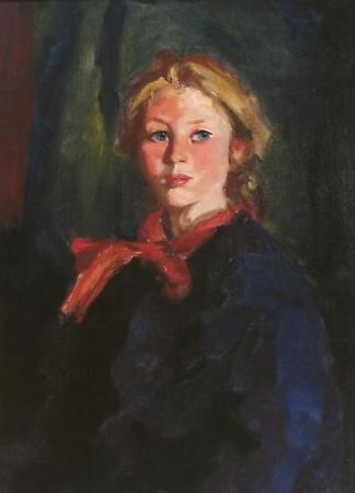 Portrait of Katie McNamara, 1928 Oil on canvas 28 x 20 1/8 inches Image
