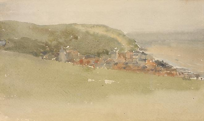 James Abbott McNeill Whistler (1834-1903) Hastings, 1880-81 Watercolor on white paper  5 x 8 1/2 inches Image