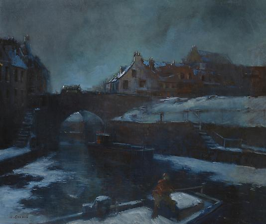 Winter in Paris, c. 1900 Oil on canvas 20 x 23 7/8  inches Image