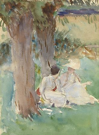 John Singer Sargent (1856-1925) Under the Willows, c. 1888 Watercolor on paper 14 x 9 3/8 inches Museum of Fine Arts, Houston, Texas. Bequest of Raymond J. and Margaret Horowitz (2007.1789) Image