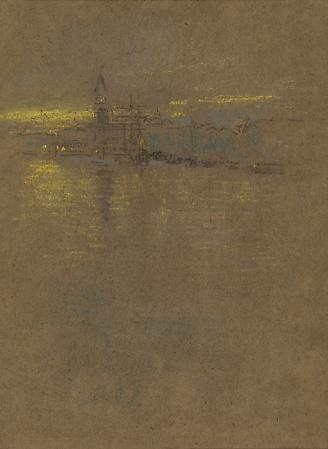 James Abbott McNeill Whistler (1834-1903) View in Venice, Looking Toward the Molo, 1879-80 Graphite, chalk and pastel on brown paper  9 1/2 x 6 3/4 inches Image
