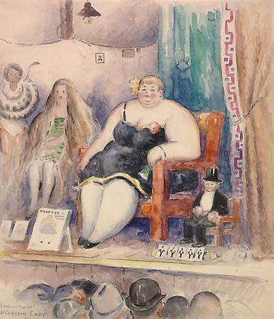 Harrison Cady (1877-1970) Babette and Major Dot, 1929 Watercolor and pencil on paper  19 x 17 inches Image