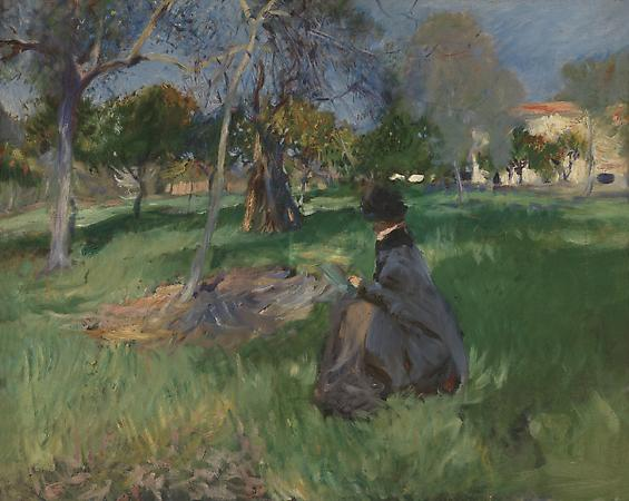 John Singer Sargent (1856-1925) In the Orchard, c. 1886 Oil on canvas 24 x 29 inches Private collection Image