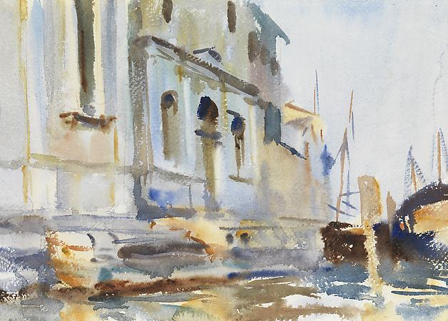 John Singer Sargent (1856-1925) Zattere, Spirito Santo and Scuola, c. 1902 Watercolor on paper 9 1/2 x 13 1/4 inches Image