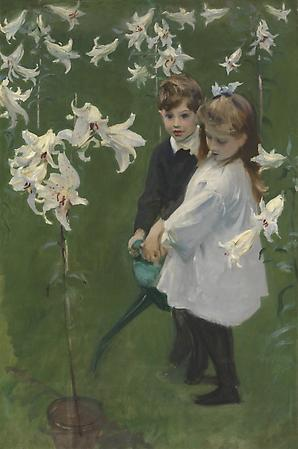 John Singer Sargent (1856-1925) Garden Study of the Vickers Children, c. 1884 Oil on canvas 54 1/2 x 36 inches Collection of the Flint Institute of Arts, Flint, MI  1972.47 Image