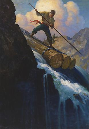 Octave Plunged, 1920 Oil on canvas 36 x 25 inches Image