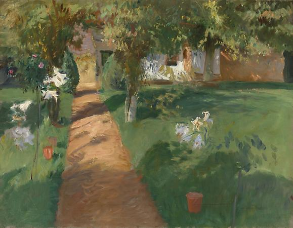 John Singer Sargent (1856-1925) The Millet House and Garden, 1886 Oil on canvas 27 x 35 inches Karen and Kevin Kennedy Collection Image