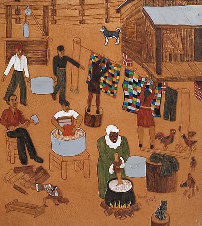 The Gammages (Patsy's House), 2005 Dye on carved and tooled leather 38 x 34 3/8 inches $25,000 Image