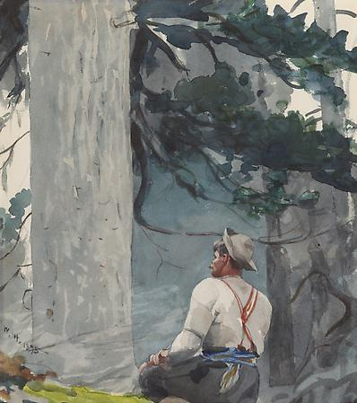 Winslow Homer (1836-1910) The Guide, 1895 Watercolor on paper 15 3/8 x 13 1/2 inches Image