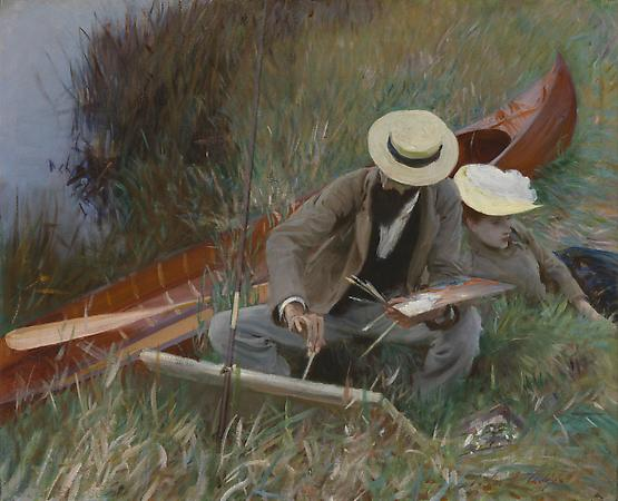 John Singer Sargent (1856-1925) Paul Helleu Sketching with His Wife, 1889 Oil on canvas 26 1/8 x 32 1/8 inches Brooklyn Museum, New York, Museum Collection Fund (20.640) Image