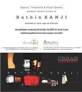 Rathin Kanji Solo in New Delhi