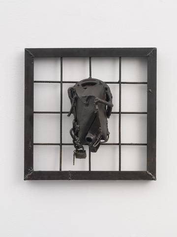 Yene (2004) Welded steel 19.75h x 19.75w x 6.25d in (50.2h x 50.2w x 15.9d cm)