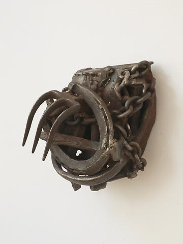 Bayou Talk  (2005) Welded steel 9h x 8w x 7d in (22.86h x 20.32w x 17.78d cm)