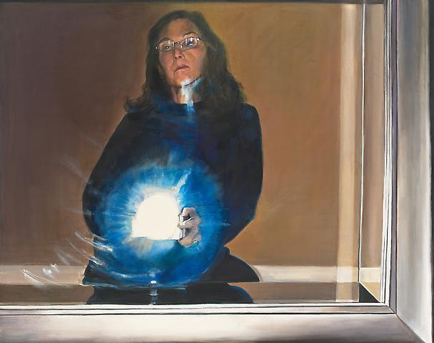 Light on Glass (2005) Oil on canvas 46h x 58w in (116.84h x 147.32w cm)