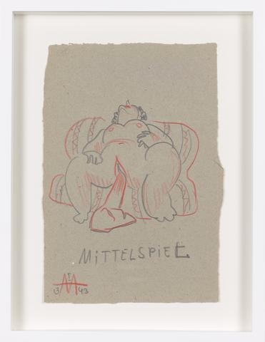 Untitled (1943) Colored pencil on paper 9.88h x 6.65w in (25.1h x 16.9w cm)