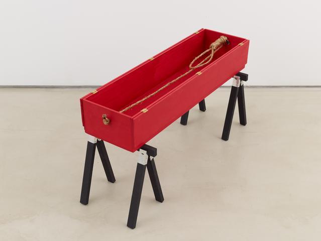 Tomb for Dietrich Bonhoeffer (2016) Mixed media 16.5h x 33w x 12d in (41.9h x 83.8w x 30.5d cm)
