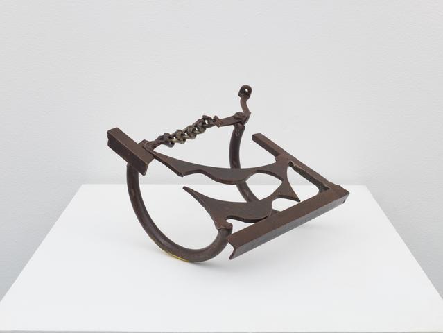Untitled Rocker (1976) Welded Steel 6.75h x 11.25w x 9.75d in (17.1h x 28.6w x 24.8d cm)