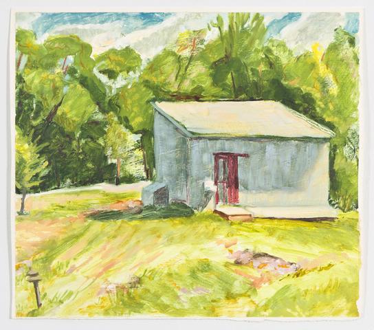 Study I (1991) Oil on gessoed paper 11h x 12.3w in (27.9h x 31.2w cm)