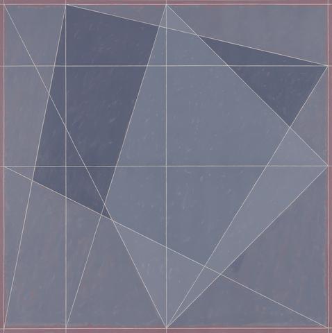 Alternative IX (OC-Q1-78 #5) (1978) Oil on canvas 72h x 72w in (182.9h x 182.9w cm)