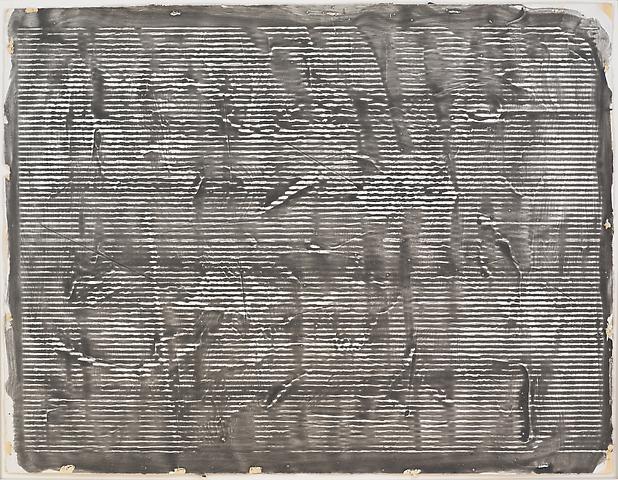 Study for Greek Alphabet Series #7 (1978) Acrylic on paper 20h x 26w in (50.8h x 66.04w cm)