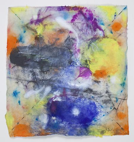 Saturation #7 (2011) Acrylic and graphite on rice paper 8.5h x 7.75w in (21.59h x 19.68w cm)