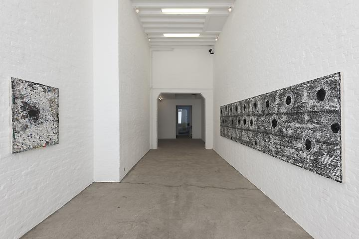 The Wall (2009) and Reclamation: For Roy De Carava (2010) Installation view