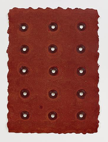 Aperture #2 (2013) Monotype on paper with grommets 28h x 20w in (71.12h x 50.8w cm)