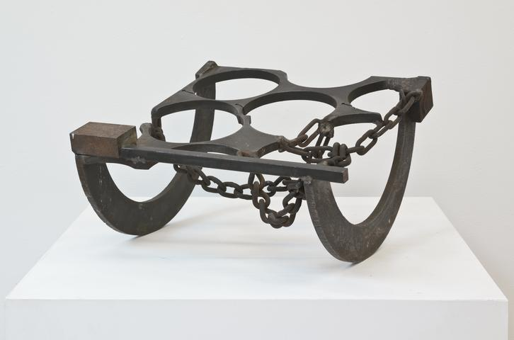 Ame Eghan (1975) Welded steel 12.5h x 19.5w x 19.5d in (31.8h x 49.5w x 49.5d cm)