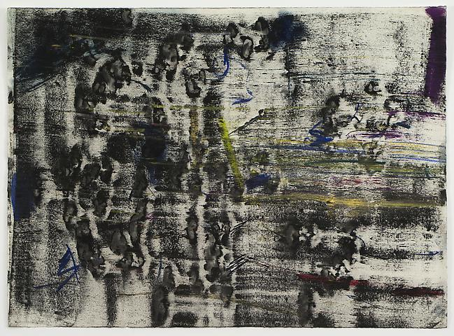 Cut Acrylic Series #3 (1973) Pastel and powdered pigment on paper 19h x 26w in (48.26h x 66.04w cm)