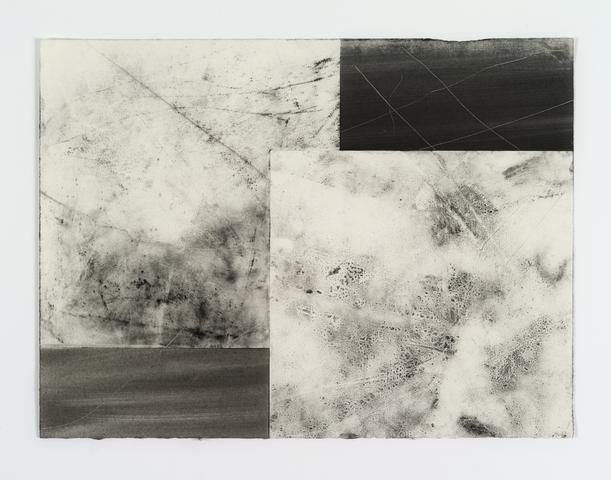 Organic Series XVI (1974) Xerox toner on Rives paper 11.3h x 15w in (28.7h x 38.1w cm)