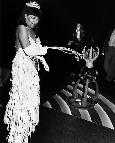 Untitled (Mlle Bourgeoise Noire Beats Herself with the Whip-That-Made-Plantations-Move) (1980-83/2009) Silver gelatin print; 50h x 40w in (127h x 101.6w cm) Edition of 8 with 1 AP