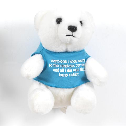 Bear (Blue)  (1991) Stuffed toy bear 6.88h x 5.63w x 5d in (17.48h x 14.3w x 12.7d cm)
