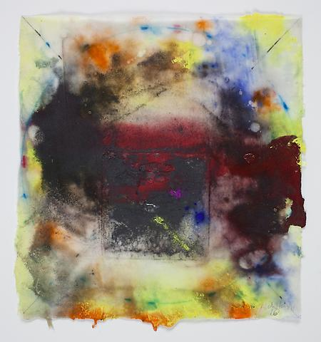Saturation #16 (2011) Acrylic on rice paper 8.5h x 7.75w in (21.59h x 19.68w cm)