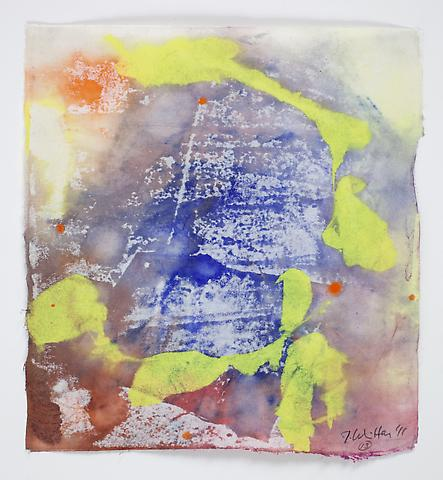 Saturation #13 (2011) Acrylic on paper 8.5h x 7.75w in (21.59h x 19.68w cm)