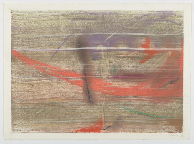 Horizontal Plane B (1972) Pastel on Rives 19h x 26w in (48.3h x 66w cm)